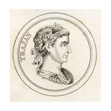 Trajan, from 'Crabb's Historical Dictionary', Published 1825 Giclee Print