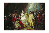 Thomas Howard, Earl of Surrey, Defending His Allegiance to Richard III before Henry VII after the… Giclee Print by Mather Brown