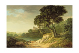 Landscape with Two Men and a Horse Giclee Print by Thomas Roberts