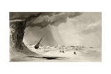 The Pack Off Sylvia Headland, Engraved by A.W. Graham, from 'Arctic Explorations in the Years… Giclee Print by James Hamilton