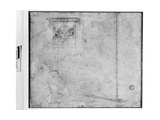 Sketch of an Ornament for the Tomb of Pope Julius II, 16th Century Giclee Print by  Michelangelo Buonarroti