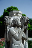 A Statue in the Park of the Chehel Sotun Palace Photographic Print