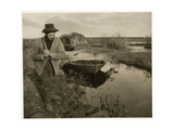Towing the Road, C.1885 Giclee Print by Peter Henry Emerson