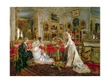 Visiting Giclee Print by Alfred Emile Stevens