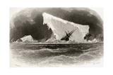 Ship Wrecked on Iceberg, Engraved by J. Mcgoffin, Title Illustration from 'Arctic Explorations in… Giclee Print by James Hamilton