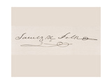 Signature of James Knox Polk Giclee Print