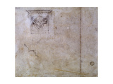 Studies for the Tomb of Pope Julius II, C.1516-17 Giclee Print by  Michelangelo Buonarroti