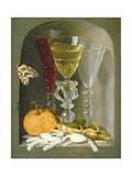 Still Life of Facon-De-Venise Wine Glasses Surrounded by Fruit and Sweetmeats Giclee Print by Osias The Elder Beert