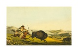 Hunting the Buffalo, 1848 Giclee Print by Thomas Loraine Mckenney