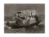 Lady Harriet Ackland on Her Way to Visit the Camp of General Gates, from 'Life and Times of… Giclee Print by Alonzo Chappel