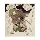 Onoe Kikugoro III as Nagoya in Sato No Haru Meibutsu Amigasa, C.1827 Giclee Print by Utagawa Kunisada