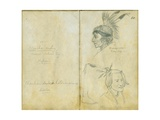 Portraits of Grey Leg and an Unidentified Sisseton Man, 1851 Giclee Print by Frank Blackwell Mayer