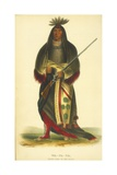 Wa-Na-Ta, Grand Chief of the Sioux, 1848 Giclee Print by Thomas Loraine Mckenney