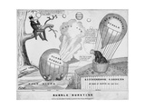 Bubble Bursting, Published by John Childs, New York and Washington Dc, C.1840 Giclee Print by Edward Williams Clay