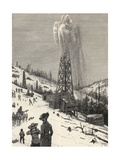 Shooting an Oil Well, from 'The Century Illustrated Monthly Magazine', May to October, 1883 Giclee Print by Henry Francois Farny