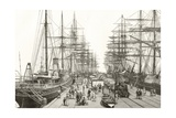 A Railway Pier in Melbourne, from 'Australian Pictures' by Howard Willoughby, Published by the… Giclee Print