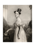 Princess Alexandrina Victoria of Saxe-Coburg, Engraved by J. Cochran, from 'National Portrait… Giclee Print by Sir George Hayter
