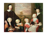 Unidentified Family Portrait, Traditionally Thought to Be That of Sir Thomas Browne, Mid 1640s Giclee Print by William Dobson