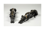 Pair of Ornamental Greyhounds, C.1802 Giclee Print by Alexis de Caix