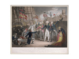 Admiral Nelson's Boarding the Two Spanish Ships, 14th February 1797, Published 21st June 1800 Giclee Print by Daniel Orme
