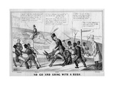No Go and Going with a Rush, Published by J Childs, New York, C.1852 Giclee Print by Edward Williams Clay