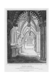 Roslyn Chapel, View of the Altars at the East End Looking North, Engraved by Samuel Lacey, 1811 Giclee Print by James Elmes