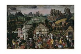 Augsburger Monatsbilder': April, May, June, C.1531 Giclee Print by Jorg I Breu