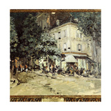 A Street in Vichy Giclee Print by Konstantin A. Korovin