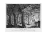 Roslyn Chapel, Engraved by J. Burnett, 1810 Giclee Print by Joseph Michael Gandy