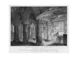 Roslyn Chapel, Engraved by J. Burnett, 1810 Giclee Print by Joseph Michael Gandy
