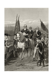 George Washington Taking Command of the Army, 1775, from 'Life and Times of Washington', Volume… Giclee Print by Alonzo Chappel