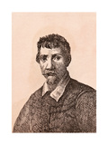 Annibale Carracci, Illustration from '75 Portraits of Celebrated Painters from Authentic… Giclee Print by James Girtin