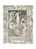 Diana and Her Nymphs, Illustration for 'The Faerie Queen' by Edmund Spenser (C.1552-99) Giclee Print by Walter Crane
