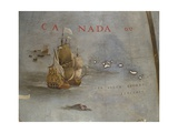 Terrestrial Globe, Detail: French Ships in the Azorean Islands, 1683 Giclee Print by Vincenzo Maria Coronelli