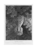 Roslyn Chapel, View of a Pendant and Groins at the East End, Engraved by S. Noble, 1810 Giclee Print by Joseph Michael Gandy