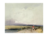 Landscape in Normandy, Traditionally known as 'Burnham in Norfolk' Giclee Print by Richard Parkes Bonington