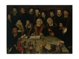 Martin Luther in the Circle of Reformers, 1625-50 Giclee Print by German School