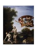 The Expulsion of Adam and Eve Lámina giclée por  Domenichino