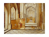 St Jerome in a Gothic Church Giclee Print by Hendrik The Younger Steenwyck