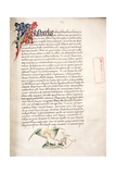 Ms.228, F.2R: Page from Aristotle's 'Nicomachean Ethics and Politics', 1452 Giclee Print by John Russell