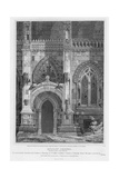 Roslyn Chapel, Elevation of Part of the South Side, Engraved by J. Burnett, 1810 Giclee Print by Joseph Michael Gandy