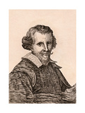 David Teniers the Elder, Illustration from '75 Portraits of Celebrated Painters from Authentic… Giclee Print by James Girtin