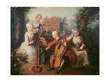 Frederick, Prince of Wales and His Sisters, 1733 Giclee Print by Philippe Mercier