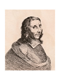 Allart Van Everdingen, Illustration from '75 Portraits of Celebrated Painters from Authentic… Giclee Print by James Girtin