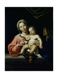 The Madonna Della Rosa, before 1627 Giclée-tryk af Domenichino