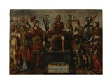 Allegory of the Holy Roman Empire under Emperor Charles V, after 1556 Giclee Print by Maerten van Heemskerck