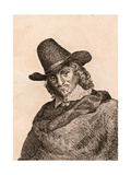 Adriaen Van Ostade, Illustration from '75 Portraits of Celebrated Painters from Authentic… Giclee Print by James Girtin