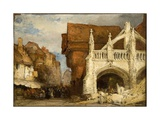 The Cross at Salisbury, While under Repair, 1874 Giclee Print by William Callow