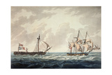 His Majesty's Sloop, Bonne Citoyenne, Taking the French Frigate, La Furieuse, in Tow after the… Giclee Print by George Webster