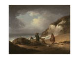 Beach Scene with Fishermen and their Catch Giclee Print by George Morland